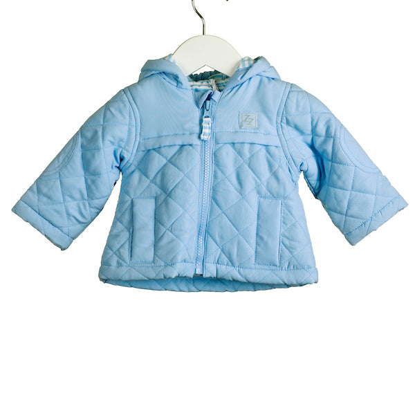 AW - NN0004 BLUE QUILTED JACKET WITH STRIPED LINING (6PCS)