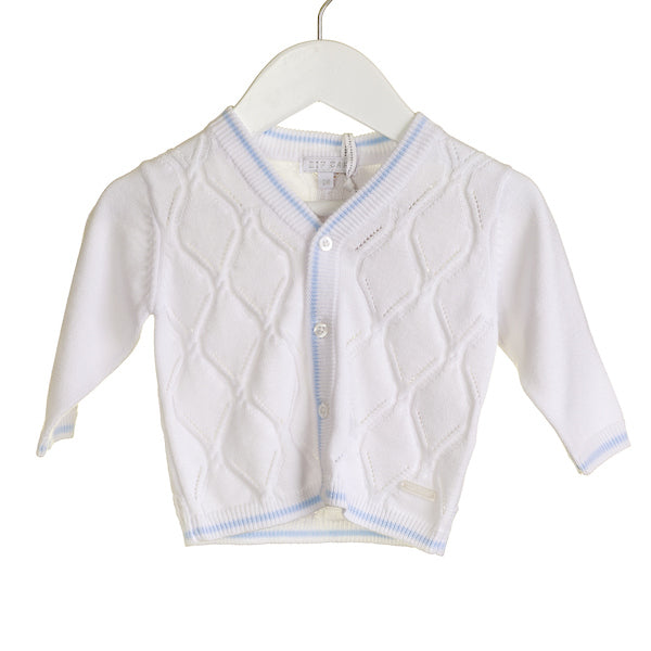 SS - NN0212 - BOYS OFF WHITE CARDIGAN (6 pcs) - SALE