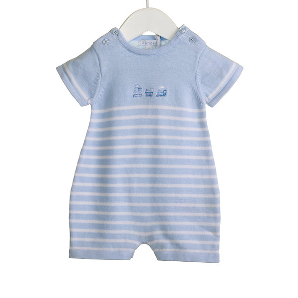 NN0215A - BOYS BLUE ROMPER (6 PCS)