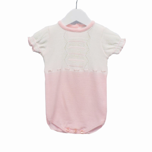 NN0297 - GIRLS PINK KNITTED ROMPER ***25% OFF*** (6 PCS)