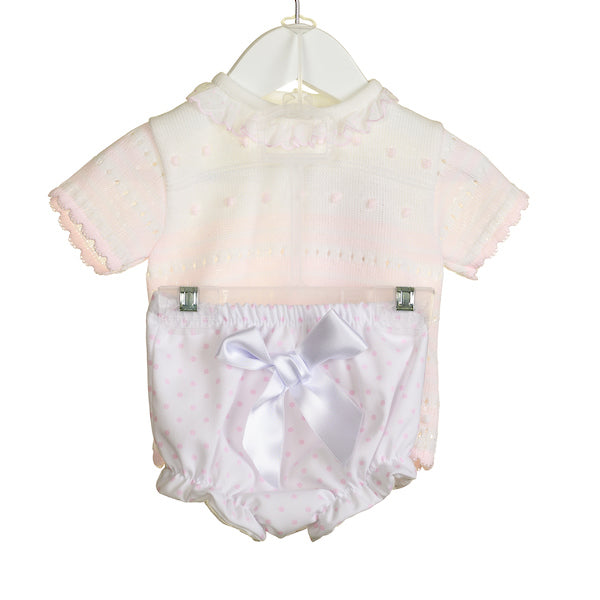 NN0300A - BABY GIRLS KNITTED TOP AND BLOOMERS  ***25% OFF*** (6 PCS)