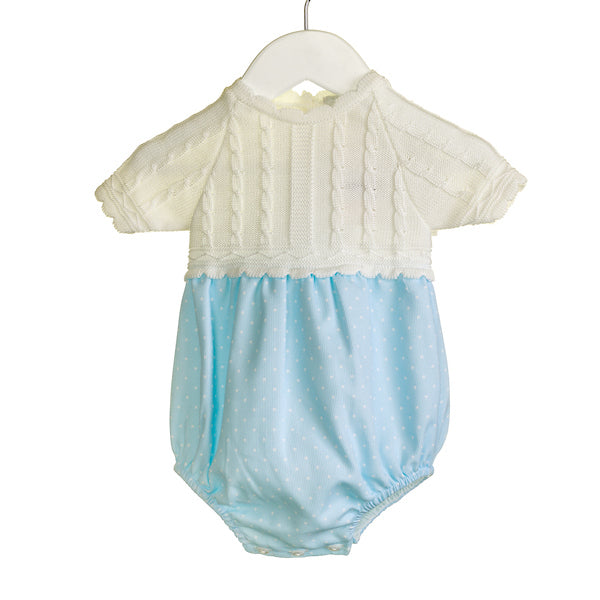 NN0307A - BABY BLUE ROMPER WITH UPPER IN WHITE ***25% OFF*** (6 pcs)