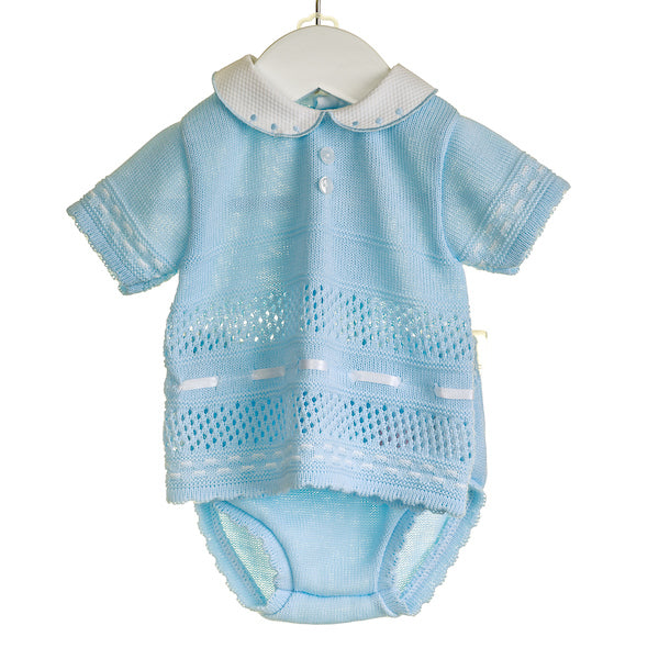 NN0313 - BOYS KNITTED TOP AND SHORTS (6 PCS) - SALE