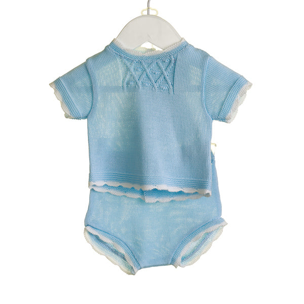 NN0333 - BABY BOYS KNITTED SHORT SET (6 PCS) - SALE