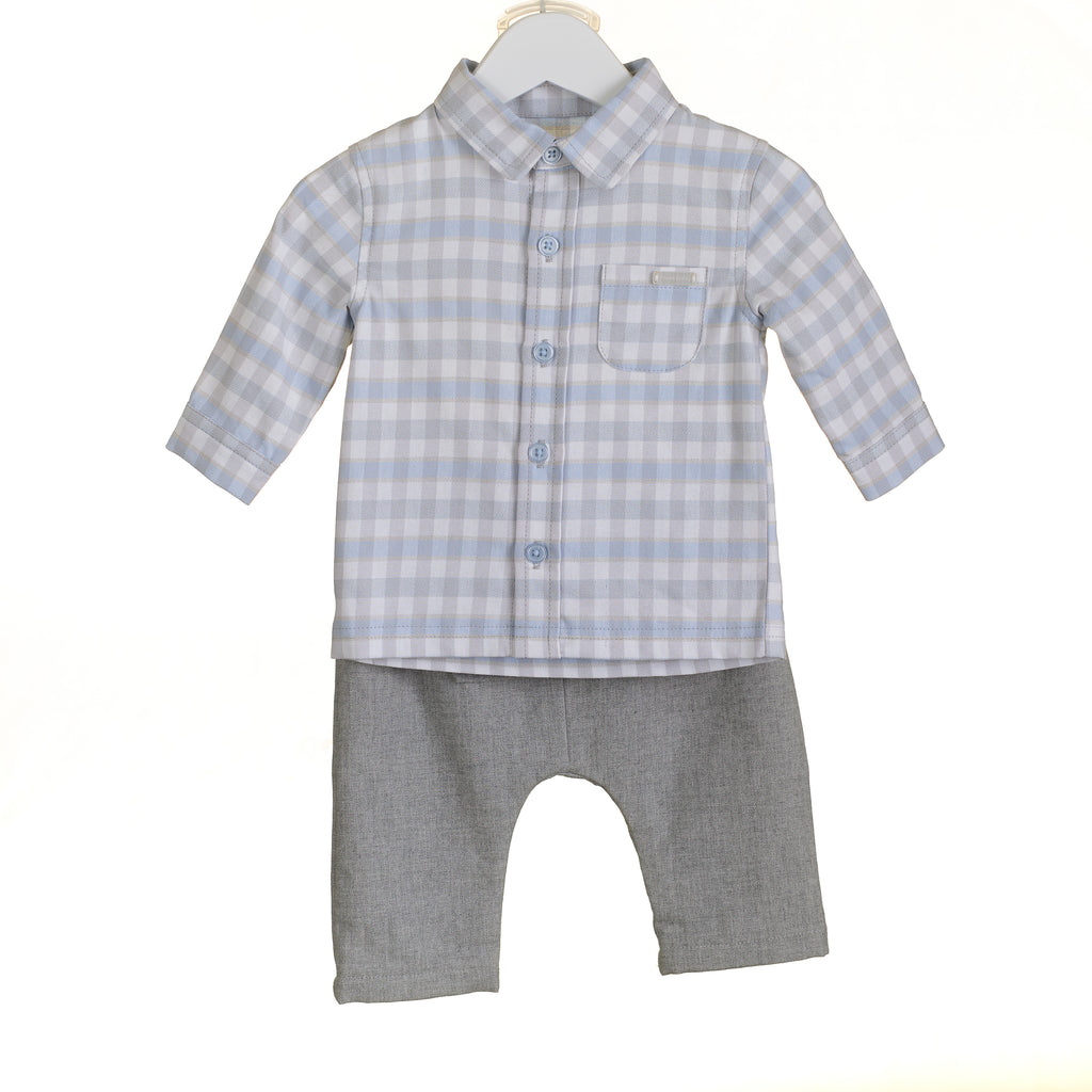PP0024 - BOYS CHECK SHIRT AND TROUSERS (6PCS)