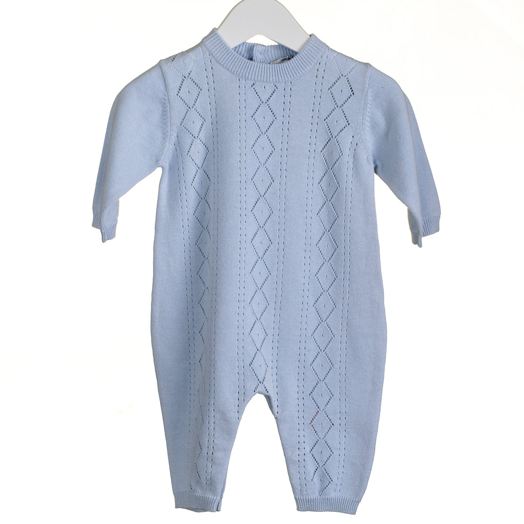 PP0164 - BOYS BLUE KNIT ROMPER (6 PCS)