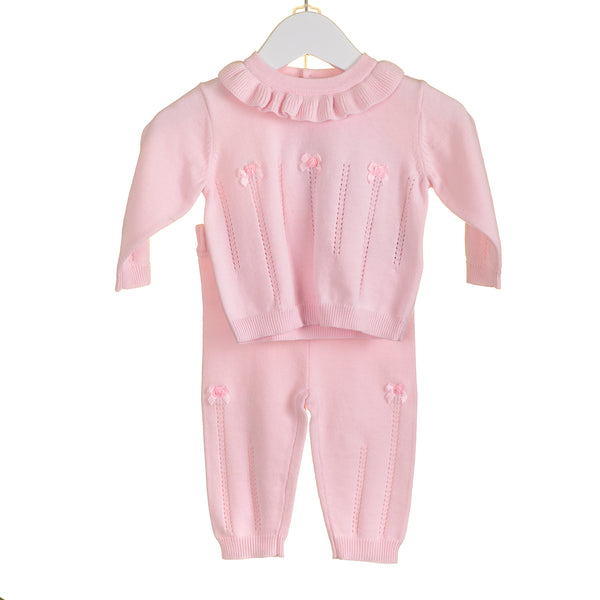 AW - PP0170 - GIRLS PINK KNITTED 2PC SET (6PCS)