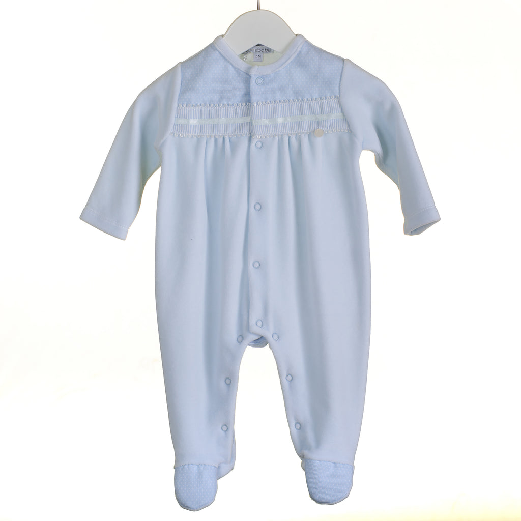 PP0307 - BOYS BLUE VELOUR SLEEPER (6 PCS)