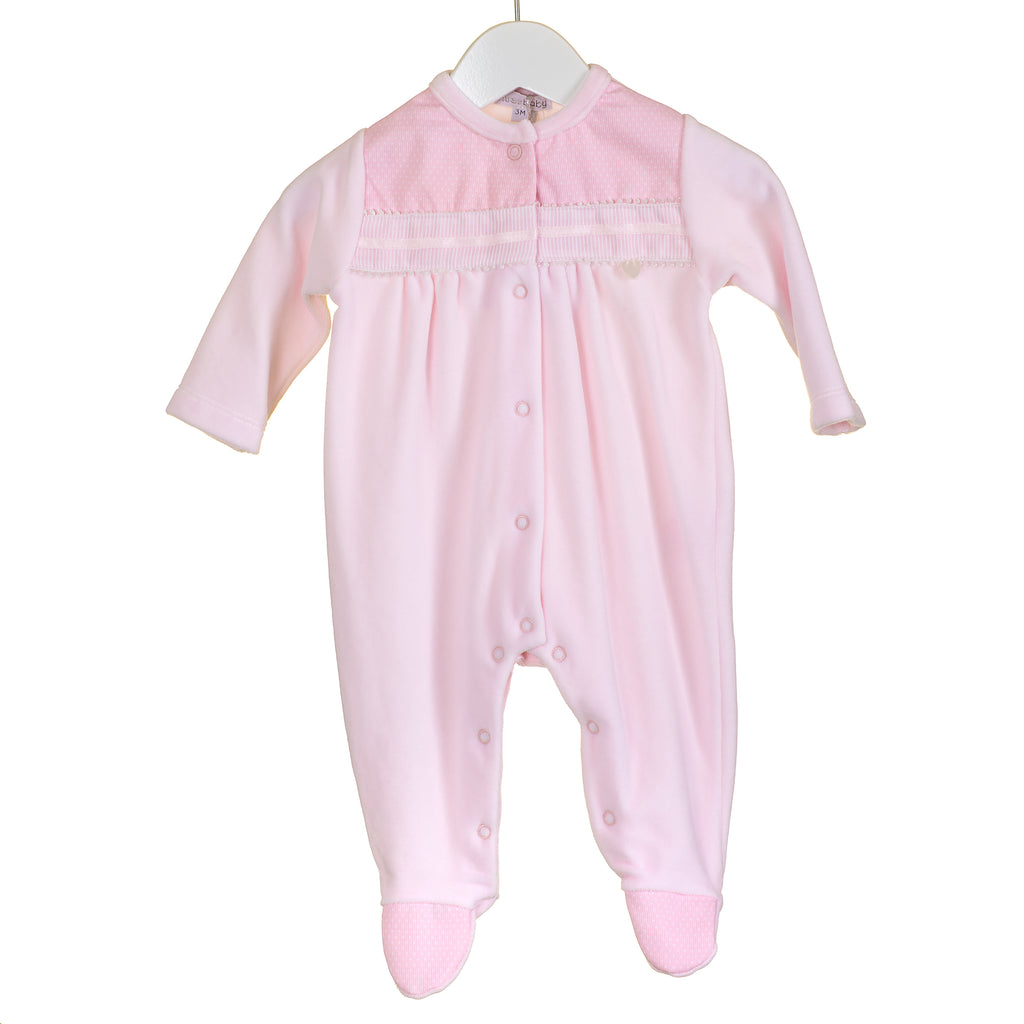 PP0308 -  GIRLS PINK VELOUR SLEEPER (6PCS)
