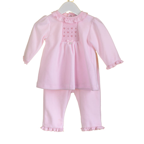 PP0333A - BABY GIRLS PINK 2PC SET (6 PCS)