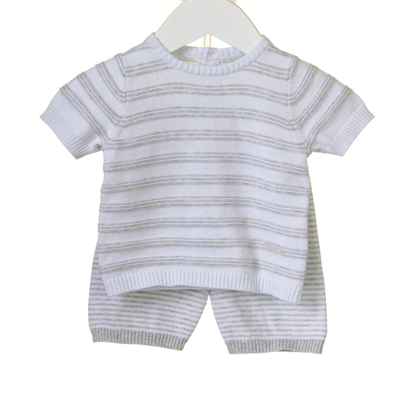 R-RR0055 - BOYS 2PC KNITTED SHORT SET