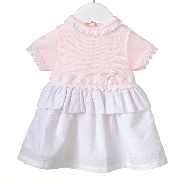 RR0099 - GIRLS KNIT/WOVEN DRESS **25% OFF** (6 pcs)