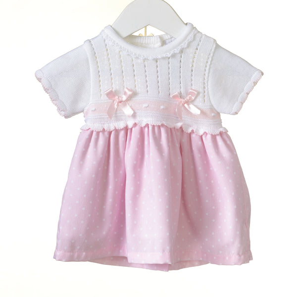RR0111 - GIRLS KNITTED/WOVEN DRESS **25% OFF** (6 pcs)