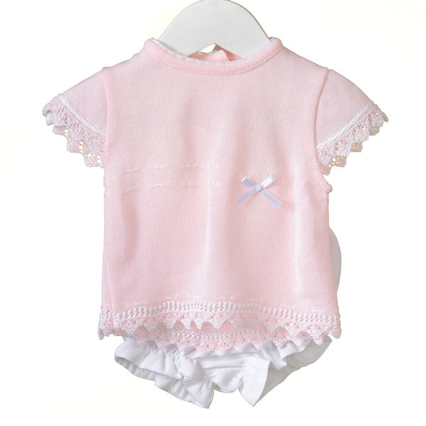 RR0114A - GIRLS 2PC KNITTED / WOVEN SET ***25% OFF ***  (6 pcs)