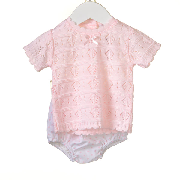 RR0116 - GIRLS POINTELLE TOP AND BLOOMER (6 pcs)