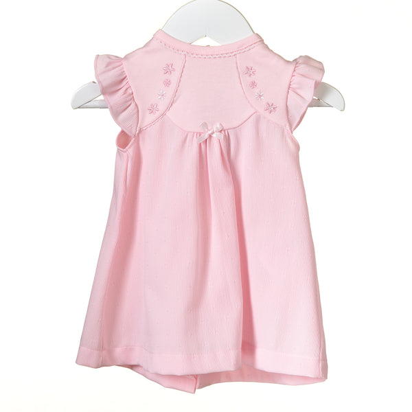 RR0128 - GIRLS PINK INTERLOCK DRESS (6 pcs)