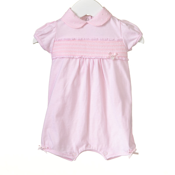 RR0134 - GIRLS PINK SMOCKING ROMPER (6 pcs)