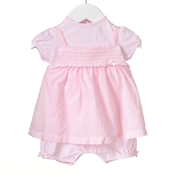 RR0135 - GIRLS PINK MOCK 2PC ROMPER (6 pcs)