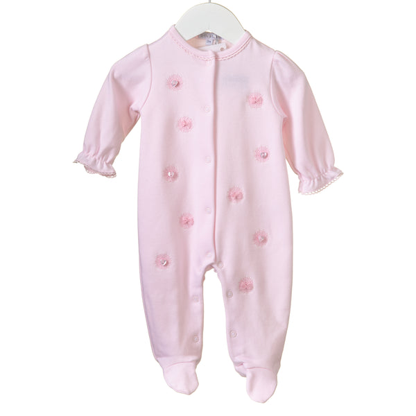 RR0136 - GIRLS PINK INTERLOCK SLEEPER (6 PCS)