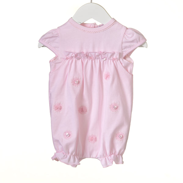 RR0137 - GIRLS PINK ROMPER (6 pcs)