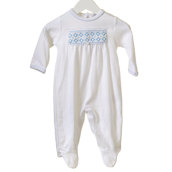 RR0141 -  BOYS WHITE INTERLOCK SLEEPER (6 pcs)