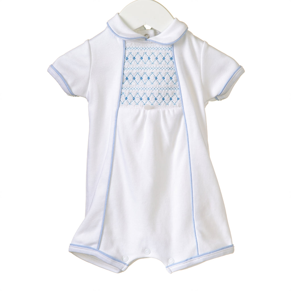 RR0159 - BOYS WHITE ROMPER (6 pcs)