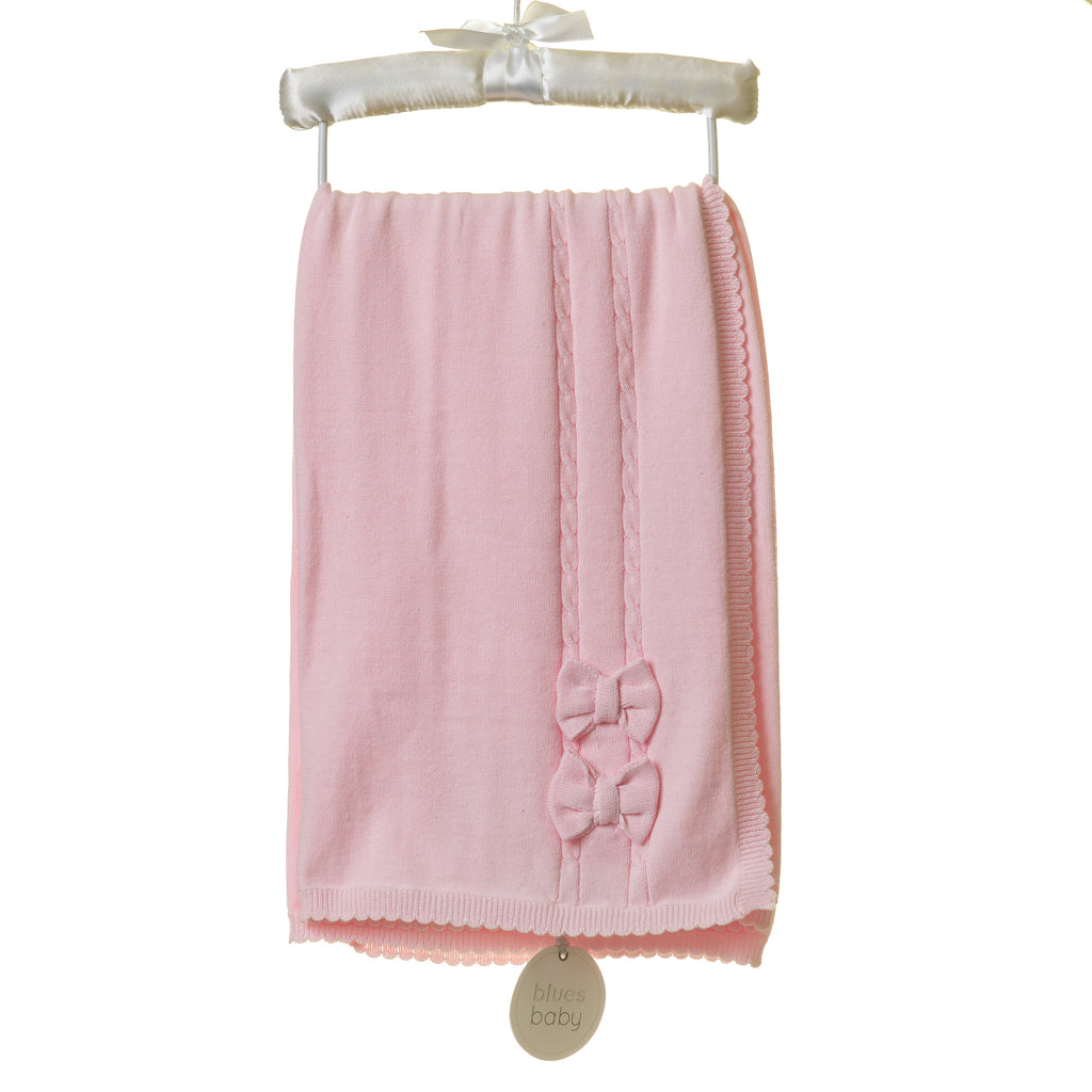 TT0095 - PINK RAISED JACQUARD BLANKET (6PCS)