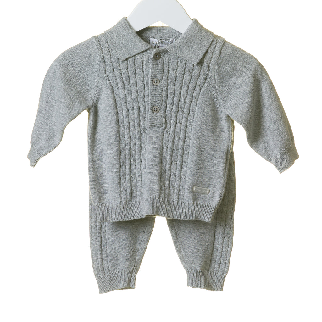 TT0105 - GREY KNITTED 2 PC SET (6 PCS)