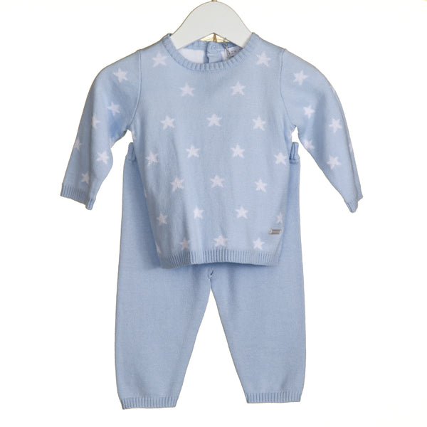 TT0109 - BLUE STAR INTARSIA 2 PC SET (6PCS) **In stock Thurs 25th July**