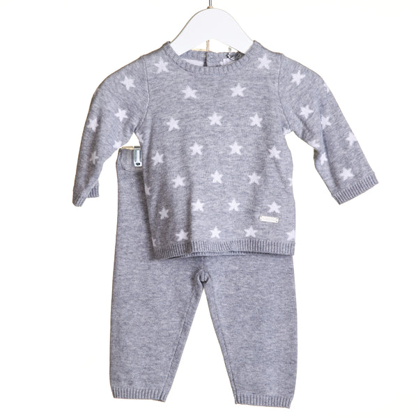 TT0111 - BOYS GREY STAR INTARSIA 2 PC SET (6PCS) **In stock Thurs 25th July**
