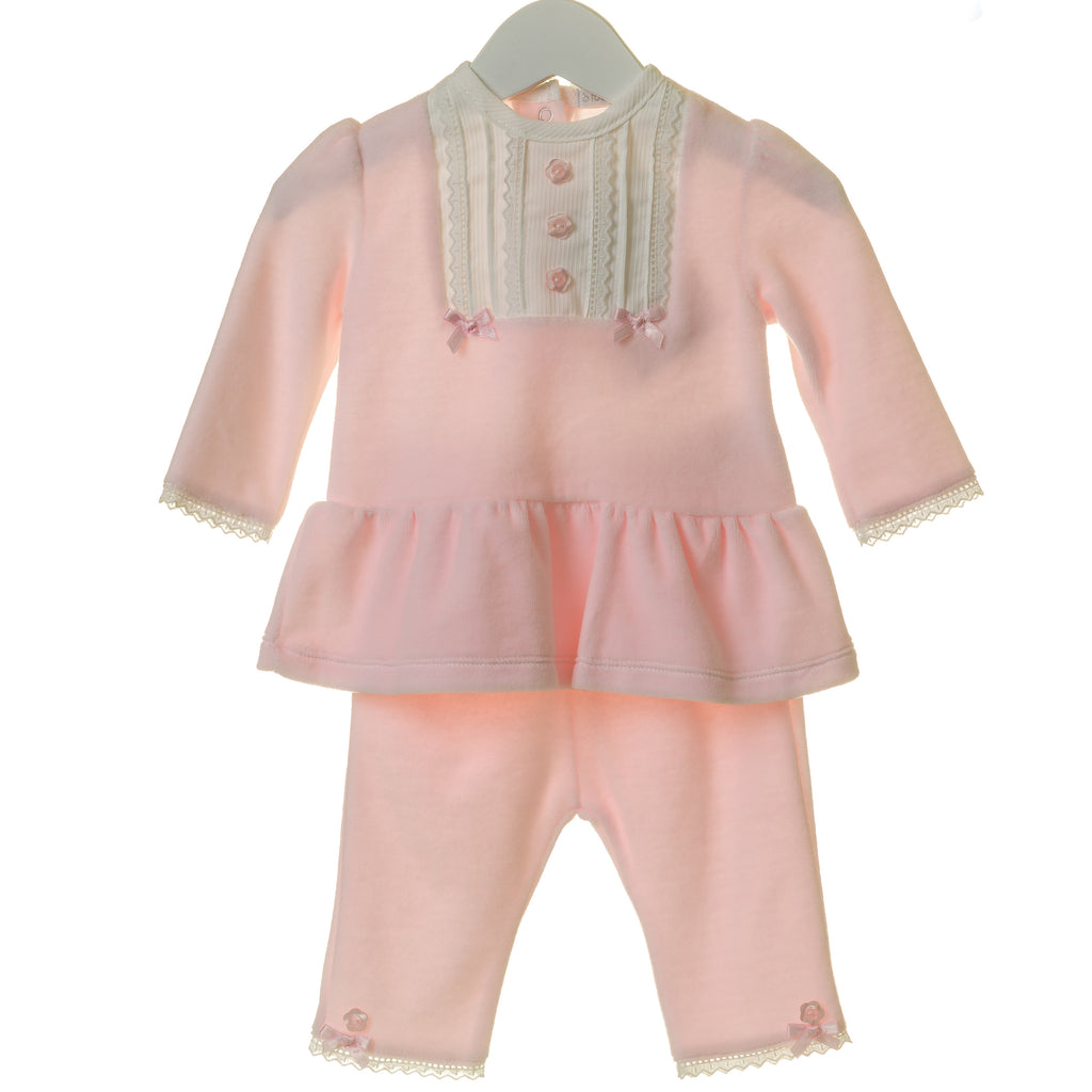 TT0164 - GIRLS VELOUR PINTUCK 2PC SET (6PCS)