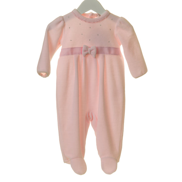 TT0176 - GIRLS VELOUR SLEEPER WITH BOW AND DIAMANTES (6PCS)