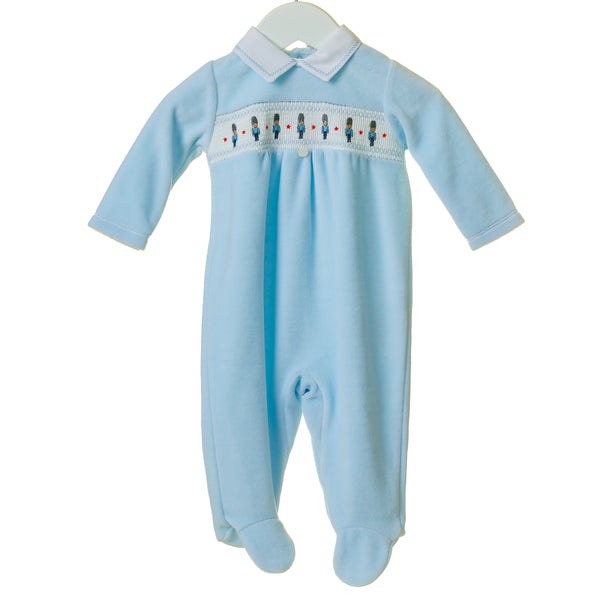 TT0192 - BOYS VELOUR SLEEPER WITH SOLDIER EMBROIDERY (6PCS)