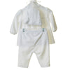 TT0225 - WHITE VELOUR 3PC DRESS SET WITH HAT AND STAR APPLIQUE (6PCS)