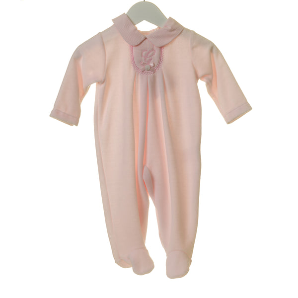 "TT0235 - GIRLS PINK VELOUR SLEEPER WITH ""G"" EMBROIDERY (6PCS)"