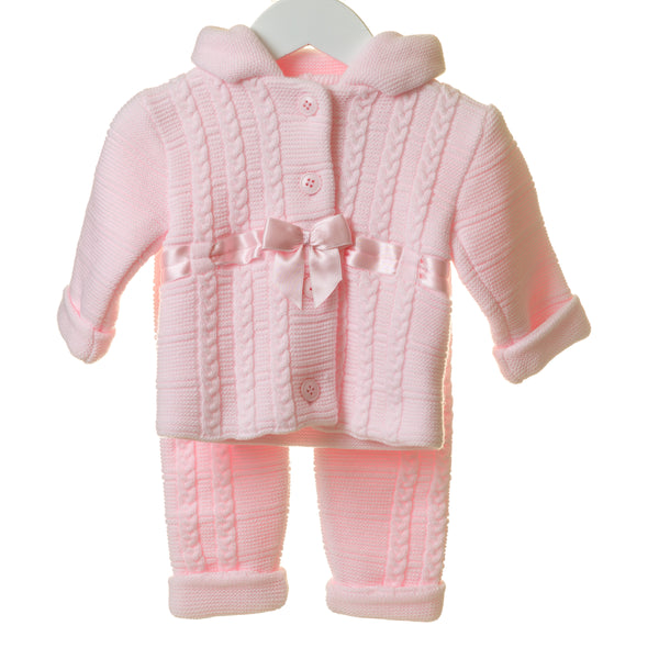 TT0260 - GIRLS HOODED DOUBLE KNIT 2PC JACKET SET (6PCS)