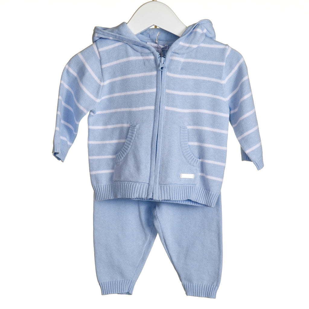 R-VV0107A - BOYS KNITTED 2PC STRIPE JOG SET