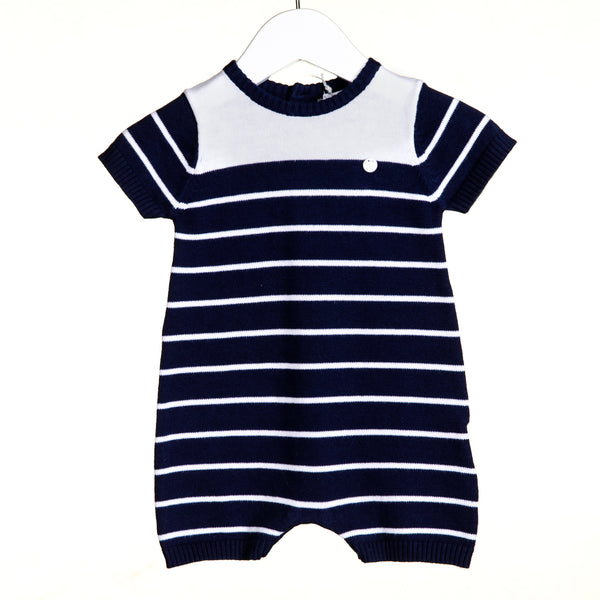 VV0110 - BOYS NAVY STRIPED ROMPER (6PCS)