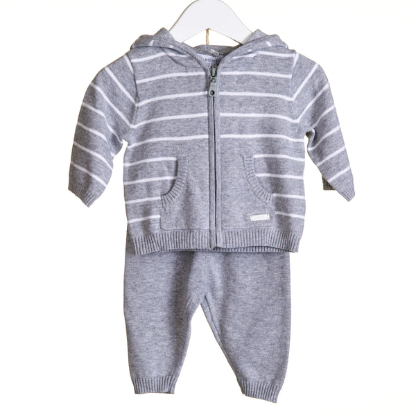 VV0125 - BOYS GREY MARL KNIT 2PC JOG SET (6PCS)