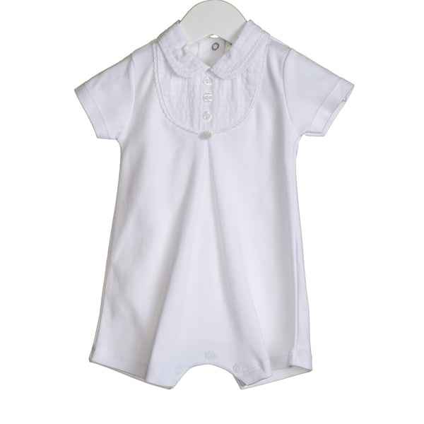VV0201 - UNISEX ROMPER WITH CONTRAST BIB DETAIL (6PCS)