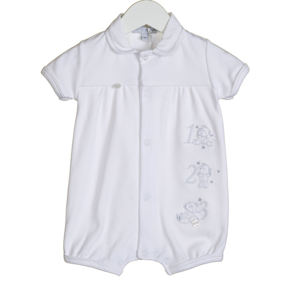 R-VV0203 - UNISEX 123 EMBROIDERY ROMPER