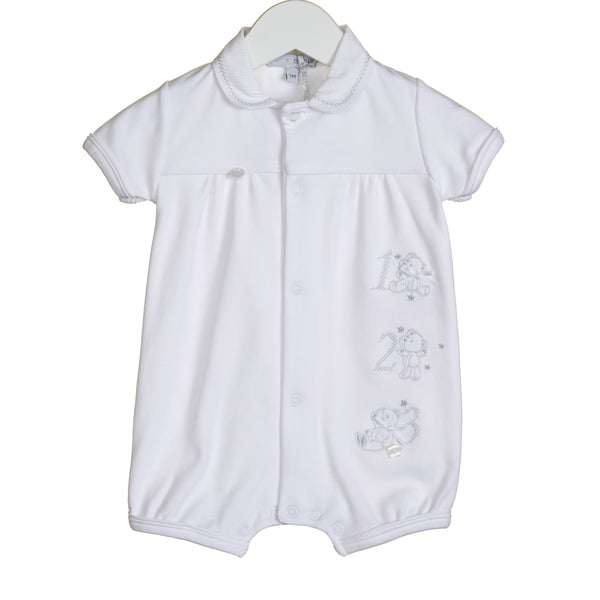 VV0203 - UNISEX 123 EMBROIDERY ROMPER (6PCS)