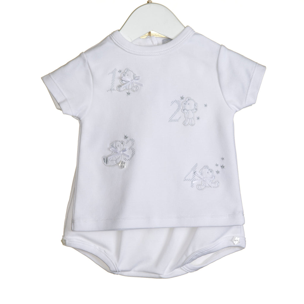 "R-VV0205 - UNISEX ""123"" 2 PC T-SHIRT AND BLOOMER SET"