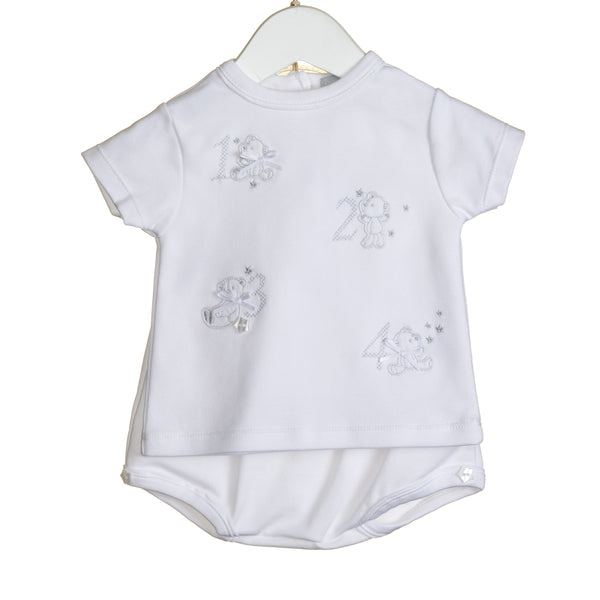 "VV0205 - UNISEX ""123"" 2 PC T-SHIRT AND BLOOMER SET (6PCS)"