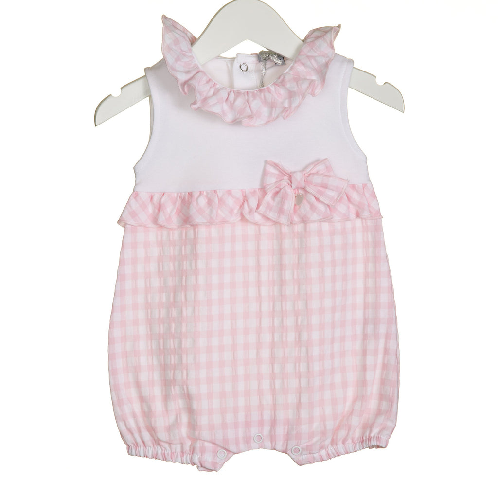 R-VV0265 - GIRLS GINGHAM ROMPER