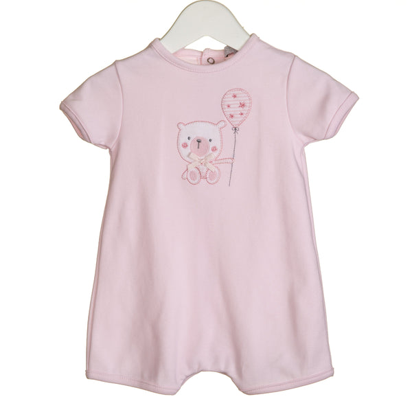 R-VV0278 - GIRLS BEAR APPLIQUE ROMPER