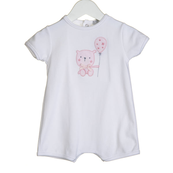 VV0279 - GIRLS BEAR APPLIQUE ROMPER (6PCS)