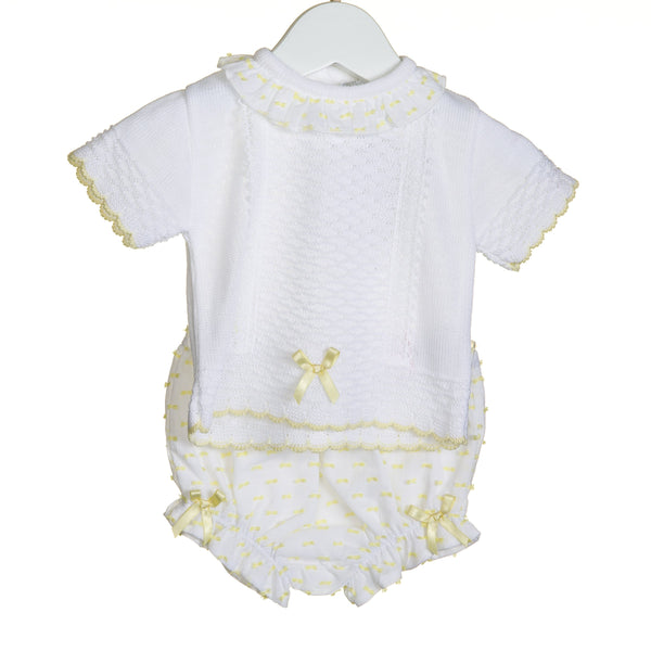 R-VV0307 -  GIRLS KNITTED 2PC JUMPER AND BLOOMER SET