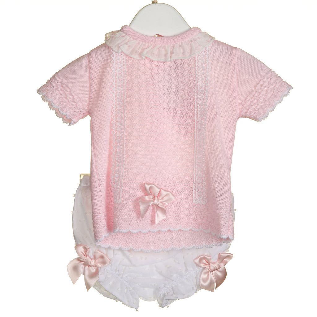 R-VV0309A - GIRLS KNITTED 2PC JUMPER AND KNICKER SET