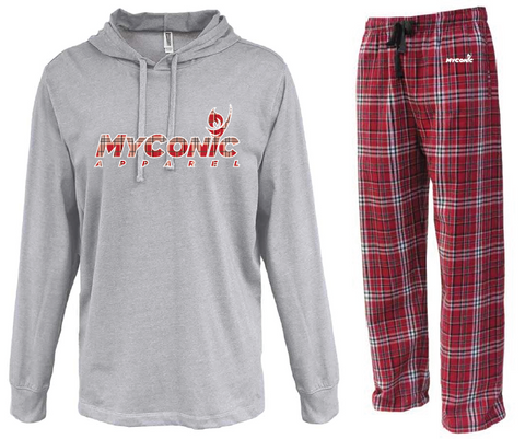 Opening Ceremony Unisex Flannel Pajama Set - Red & White